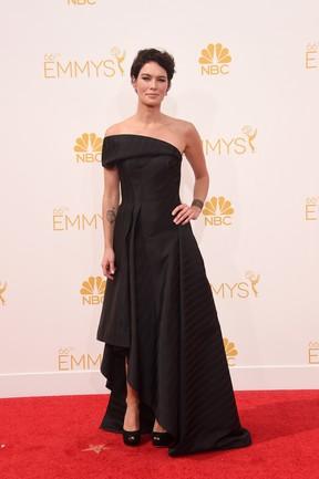 Lena Headey no Emmy (Foto: AFP)