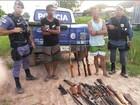 Dupla é presa e polícia encontra oficina clandestina de armas no AM