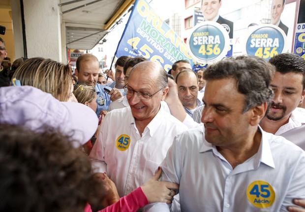 Aécio Neves; Geraldo Alckmin (Foto: Marcelo Ribeiro/ Alckmin 45)