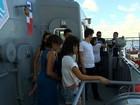 Navios de patrulha da Marinha do Brasil estão abertos à visitação