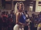Depois de polêmica, Juju Salimeni volta a causar em noite de samba