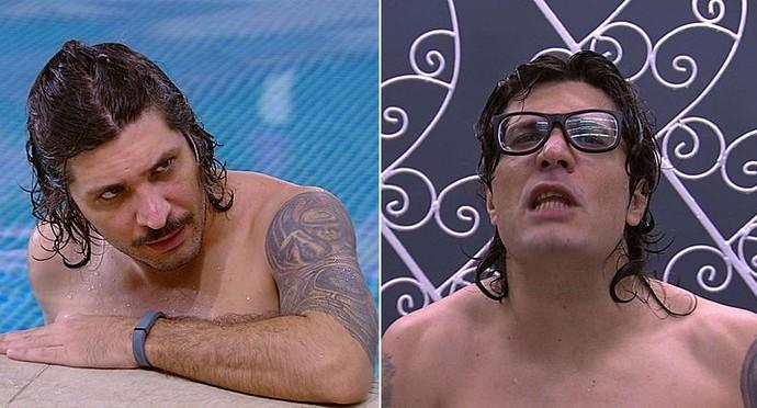 Ilmar gostou do novo visual sem bigode (Foto: TV Globo)