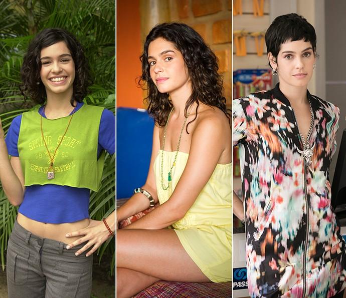 Maria Flor em 'Malhação', 'Sete Vidas' e 'A Lei do Amor' (Foto: Gshow)