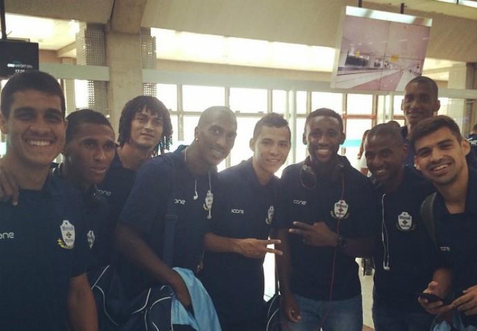 delegação do macaé em Maceió (Foto: Reprodução)