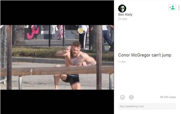 Conor McGregor não consegue pular