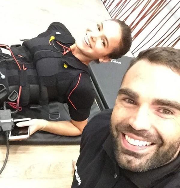 Bruna Marquezine faz treino inusitado recomendado pelo personal Chico Salgado (Foto: Reprodução/Instagram)