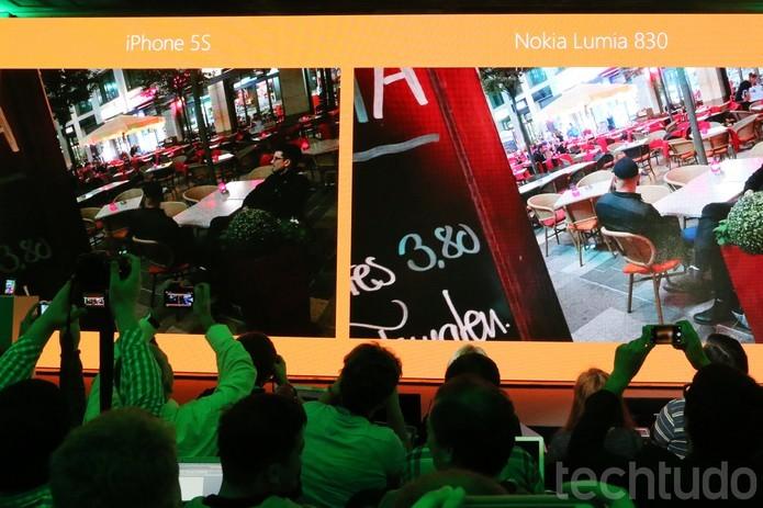 Comparação entre imagens feitas com as câmeras do iPhone 5S e Lumia 830 (Foto: Fabrício Vitorino/TechTudo)