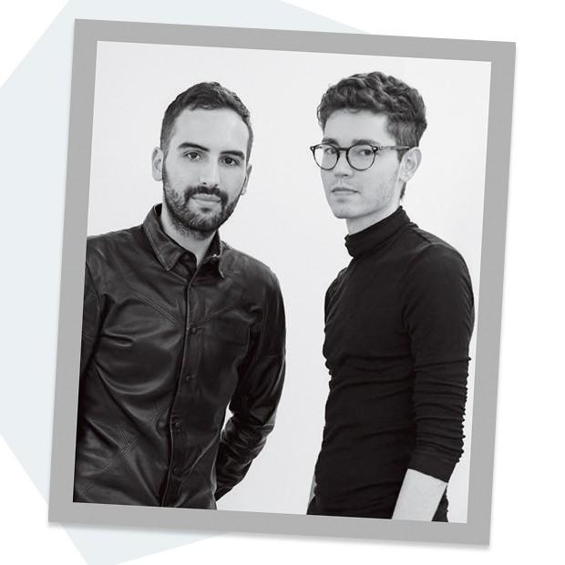 André Boffano e Sam Santos, que apostam em materiais que vão do jeans ao couro (Foto: Divulgação)