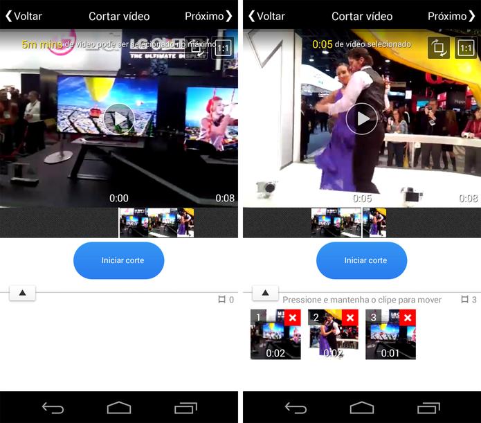 Interface de edição do VivaVideo (Foto: Reprodução/ Marcela Vaz)