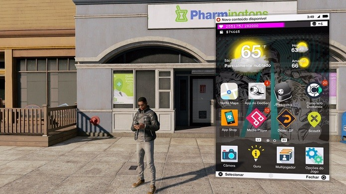 Watch Dogs 2: baixe o aplicativo Pesquisa no smartphone (Foto: Reprodução/Victor Teixeira)