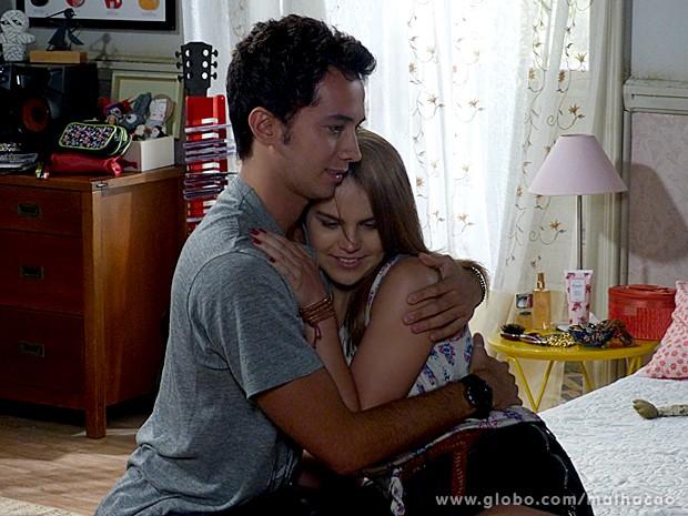 Ben e Anita se sentem culpados pelo acidente (Foto: Malhação / TV Globo)