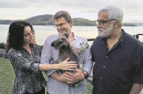 Rosane Svartman, Luiz Henrique Rios e Paulo Halm (Foto: João Tristão)