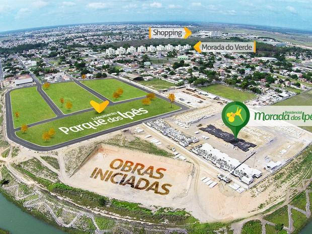 Linhares ganha loteamento com conceito de bairro planejado que tem estrutura para receber até 140 famílias em áreas privativas de 360 m² (Foto: Divulgação)