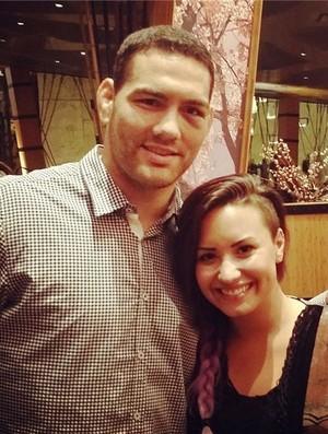 Instagram - Chris Weidman e a cantora Demi Lovato (Foto: Reprodução / Instagram)