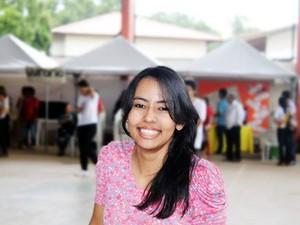 Jeane Souza, de 17 anos, foi aprovada em primeiro lugar na Ufam (Foto: Arquivo Pessoal/Jeane Souza)
