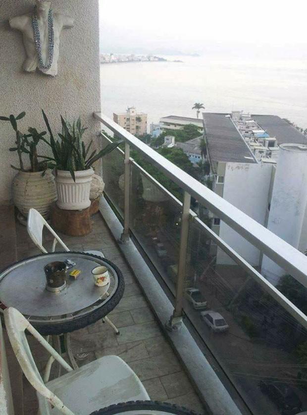 Apartamento de Roberta Rodrigues no Vidigal (Foto: Reprodução)