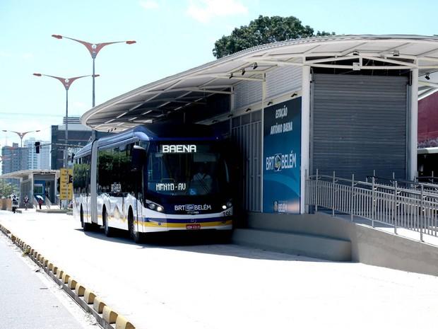 Trecho da av. Almirante Barroso sofre interdição para obras do BRT (Foto: Divulgação/Agência Belém)