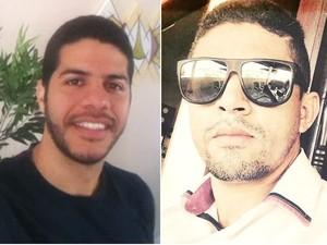 Charllison Policarpo à direita e Rui Patrício à esquerda, criadores do aplicativo. (Foto: Acervo Pessoal)