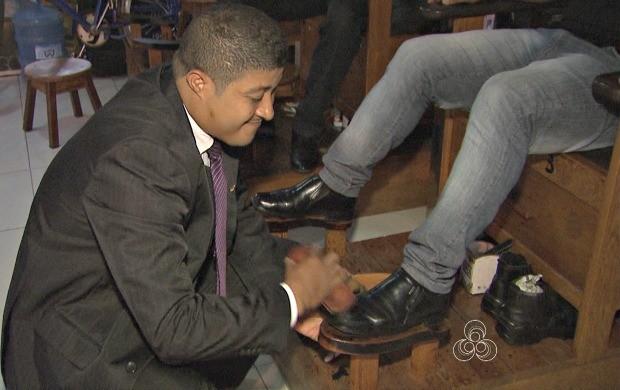 Orlando Melo foi engaxate durante cinco anos antes de concluir graduação em direito (Foto: Amazônia Revista)