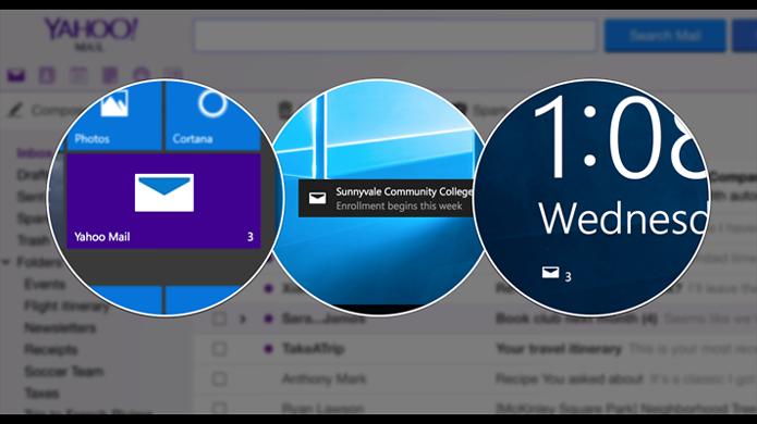 Aplicativo do Yahoo oferece acesso facilitado à caixa de entrada no Windows 10 (Foto: Divulgação/Windows Store)