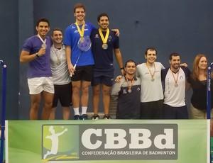 Lucas Alves vai ao pódio no Nacional de Badminton (Foto: Reprodução/Facebook)