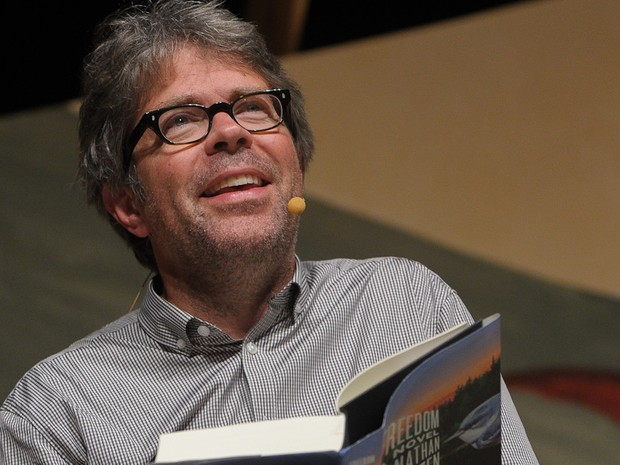 6 de julho - O americano Jonathan Franzen, considerado um dos principais escritores da literatura dos EUA na atualidade, participa de mesa da Flip (Foto: Flavio Moraes/G1)