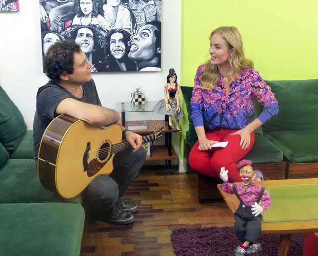 Angélica entrevista Frejat (Foto: Estrelas/TV Globo)
