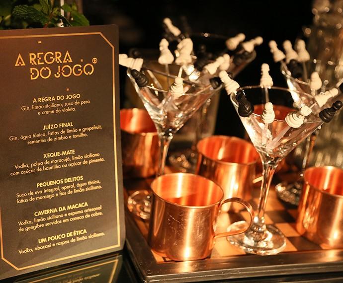 Drinks têm nomes inspirados na trama (Foto: Isabella Pinheiro/Gshow)