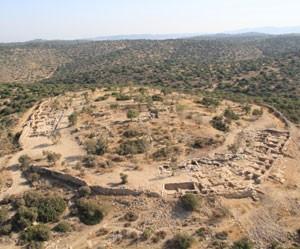 Visão de Khirbet Qeiyafa (Foto: Universidade Hebraica de Jerusalém/Divulgação)