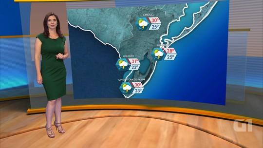 Sexta-feira deve ser mais um dia de temperaturas altas e chuva no RS