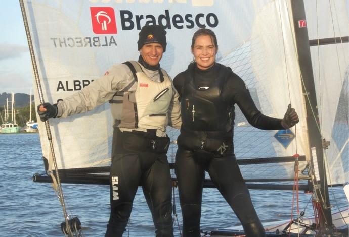 Samuel Albrecht e Isabel Swan Nacra 17 (Foto: Divulgação)