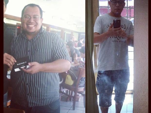 Valdecy Lins pesava 112 quilos e perdeu 37 Kg (Foto: Arquivo Pessoal)