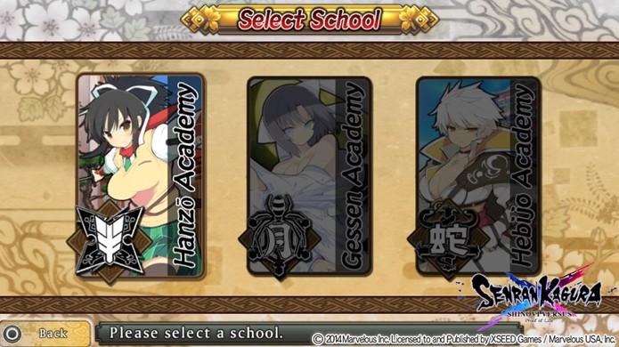 Na tela Select School utilize a sequência para desbloquear o Crimson Squad sem esforço (Foto: Reprodução: Rafael Monteiro)