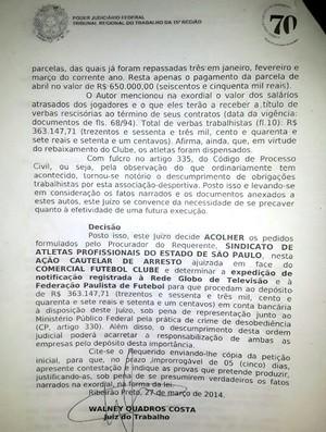 Justiça bloqueia parte da cota da FPF que seria paga ao Comercial (Foto: Reprodução)