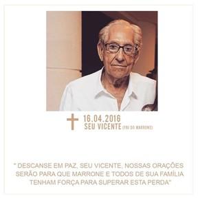 Vicente pai de Marrone (Foto: Reprodução/ Facebook)