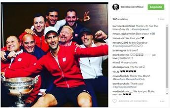 Após cair no ranking, Djokovic anuncia fim da parceria com Boris Becker