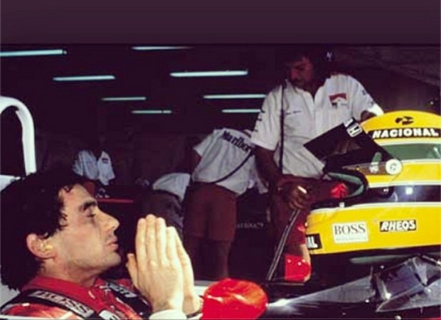 Dany Bananinha, assistente de palco do 'Caldeirão do Huck', afirmou sentir 'saudade infinita' de Ayrton Senna (Foto: Reprodução/Instagram)