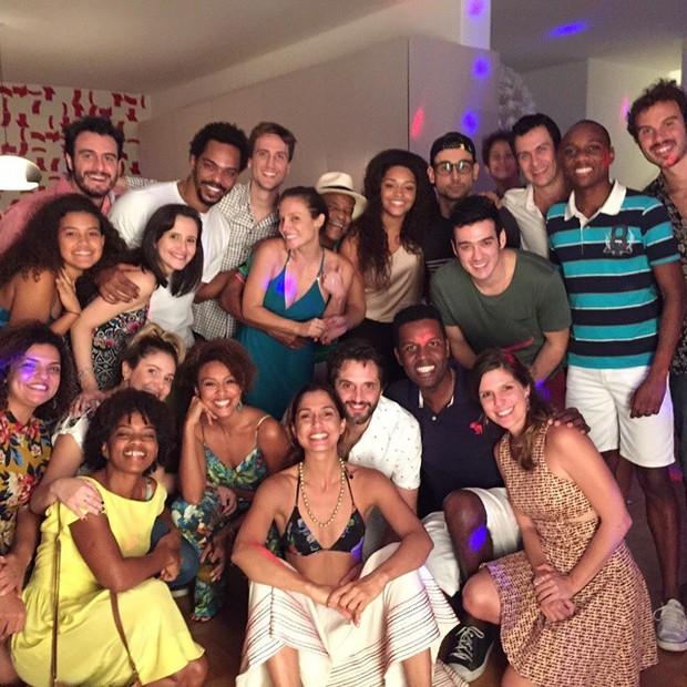 Camila Pitanga comemora aniversário com famosos (Foto: Instagram/ Reprodução)
