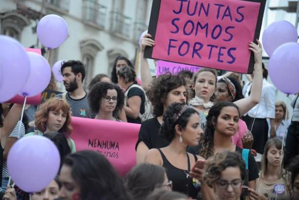 Protesto feministas no Brasil (Foto: Reprodução)
