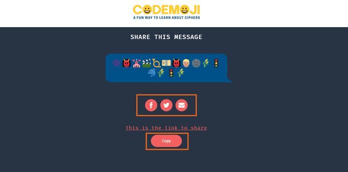 Compartilhe o recado codificado com seus amigos em redes sociais ou mensageiros (Foto: Reprodução/Barbara Mannara)