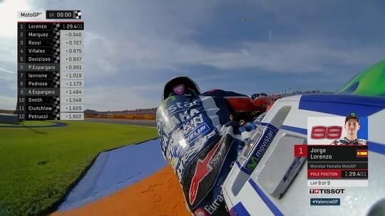 Lorenzo quebra recorde em Valencia ao cravar pole na última corrida do ano