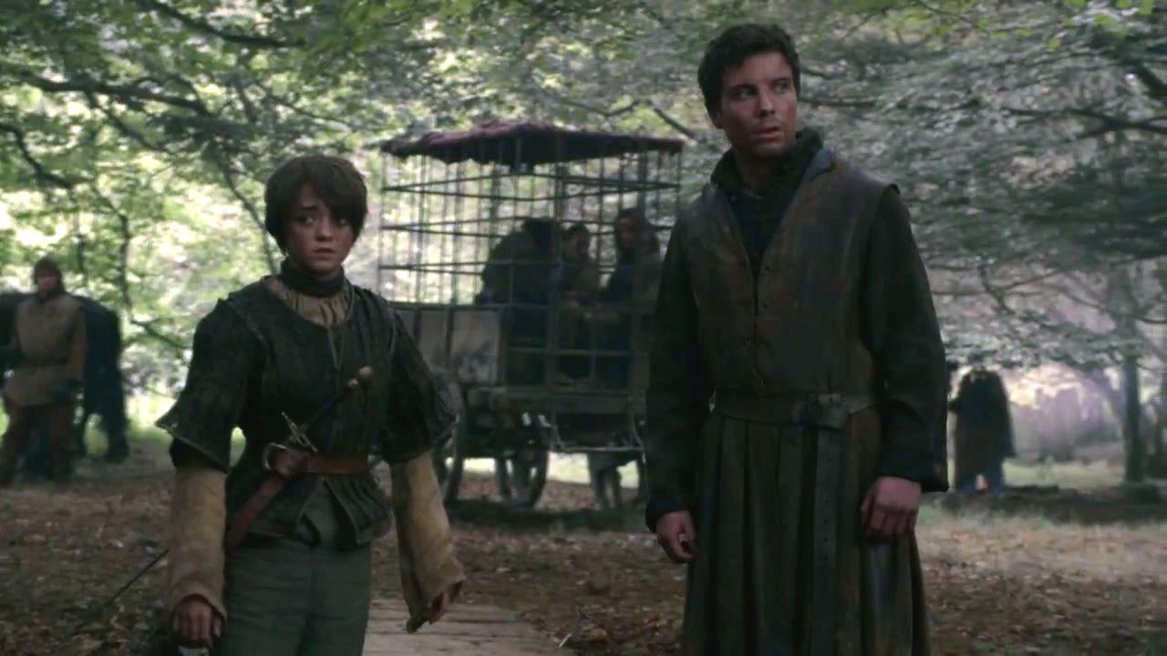 Arya e Gendry em Game of Thrones (Foto: Divulgação)