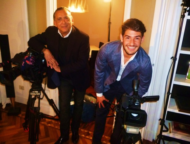 Galvão Bueno e Pato (Foto: Paula Alvim)