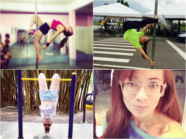 Pole dance ajudou jornalista a emagrecer (Foto: Arquivo pessoal)
