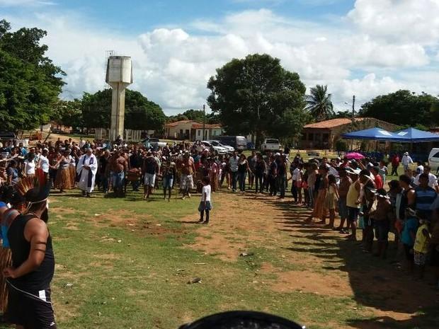 Índios celebraram ritual especial de passagem para o mundo dos mortos (Foto: Marcos Paulo Carvalho Lima/Divulgação)