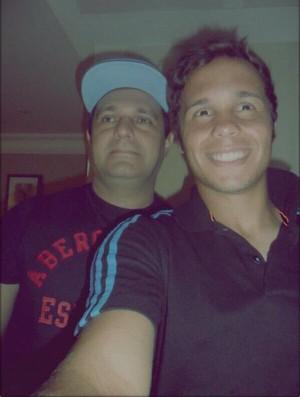 Douglas Baggio e o falecido pai, Seu João (Foto: Arquivo pessoal)
