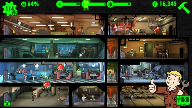 'Fallout Shelter' é game gratuito e divertido para celulares em que jogadores gerenciam abrigo nuclear (Foto: Divulgação/Bethesda)