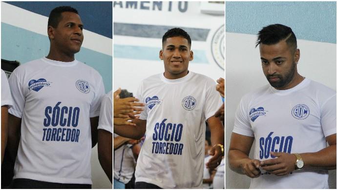 Carlinhos, Izaldo e Júnior Paraíba (Foto: Osmar Rios / GloboEsporte.com)