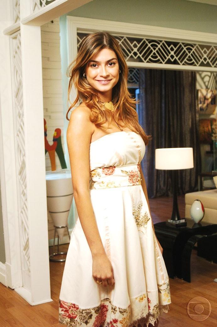 Marcela tinha looks bem românticos, como a personalidade dela (Foto: CEDOC/TV Globo)