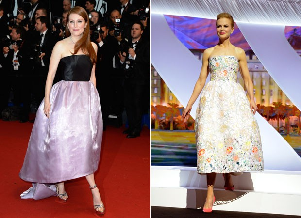 JULIANNE MOORE E NICOLE KIDMAN COM LOOK DIOR NA ABERTURA DO FESTIVAL DE CANNES DESTE ANO (Foto: Getty Images)